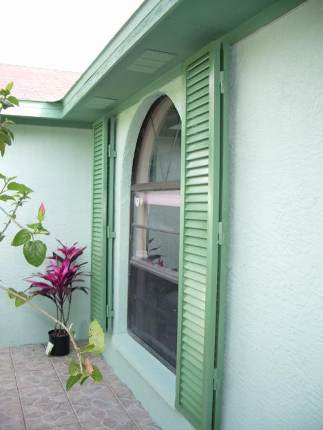 Colonial Decorative Green Shutters