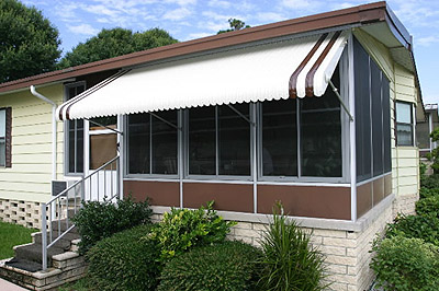 Clamshell Awning