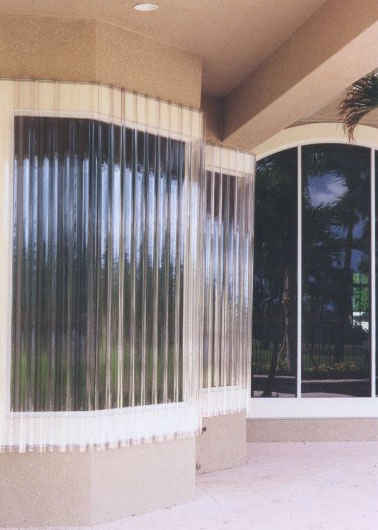 LookOut Corrugated Polycarbonate (LEXAN®) Sheet Storm Panels, Hurricane Panels