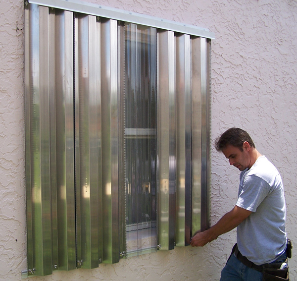 How To Install Hurricane Shutter Storm Panels