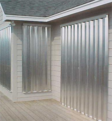 Aluminum hurricane panels