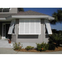 Bahama Hurricane Shutter - 66 x 66 - Fits 60 x 60 Window